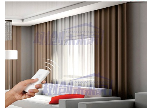 上海原裝配套超靜音無聲電動窗簾電機軌道 服務為先 上海樹創智能科技供應