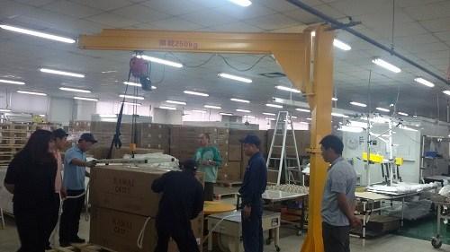 通旋臂起重机质量放心可靠「上海浩翔起重机械设备供应」