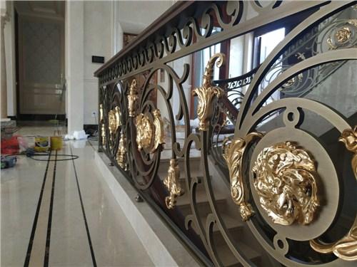 云南铜艺楼梯图片 上海普孜铜制品供应