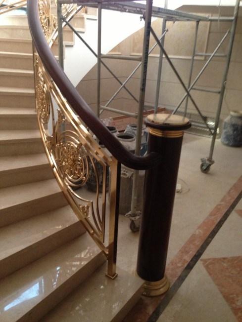 山东铜楼梯图片 上海普孜铜制品供