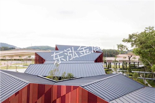 太原仿古瓦配件堵头铝镁锰屋面板制造厂家,铝镁锰屋面板