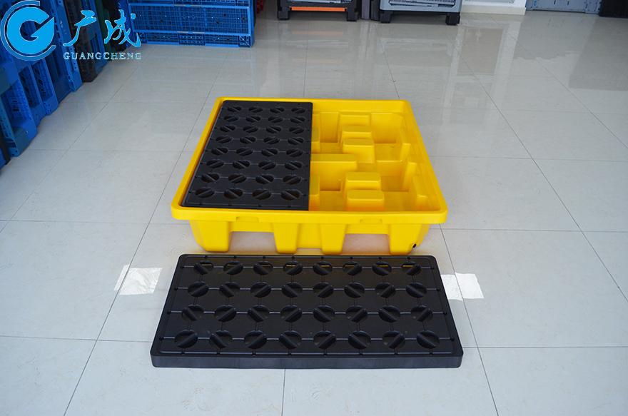 四桶装防漏塑料托盘俯拍