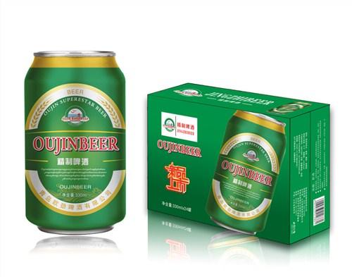 哈尔滨啤酒招商代理 诚信服务「青岛欧劲啤酒供应」