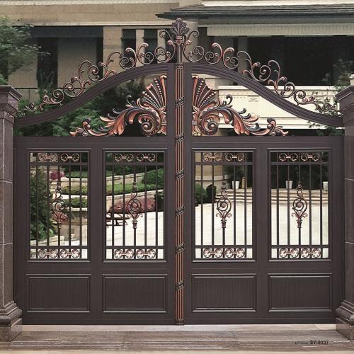 十堰仿古铝艺庭院大门,铝艺庭院大门