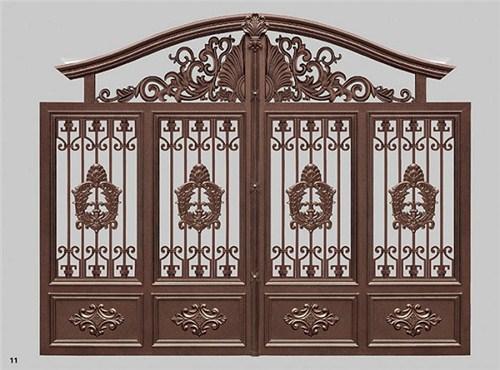 鄂州新中式 铝艺庭院大门安装,铝艺庭院大门