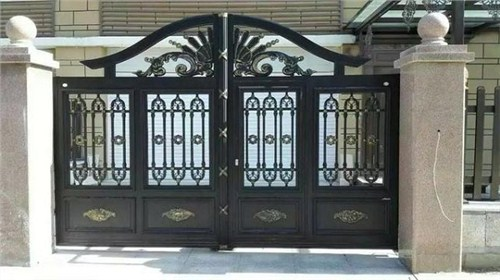鄂州别墅铝艺庭院大门,铝艺庭院大门