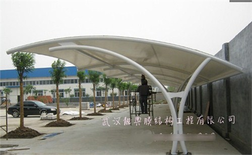 黄石膜结构自行车棚施工工艺,膜结构自行车棚