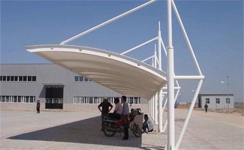 硚口膜结构自行车棚施工工艺,膜结构自行车棚