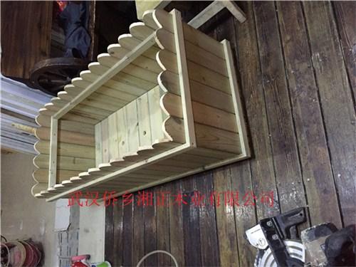 衡阳优质防腐木花箱施工,防腐木花箱