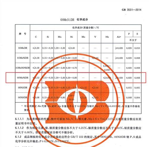 09MnNiDR南通代理销售公司「无锡策合商贸供应」