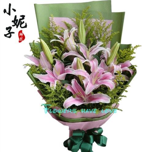 上海鲜切百合花束表白神器 有口皆碑 湖北柳氏商贸供应