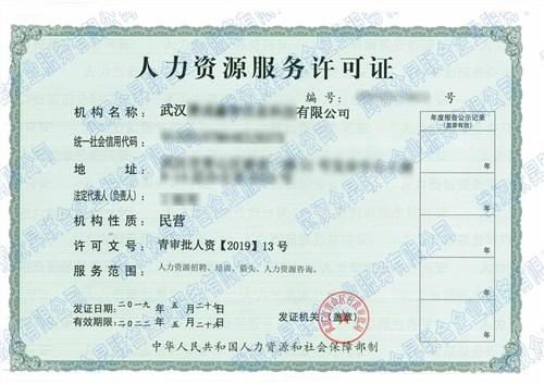 武昌区人力资源服务许可证,人力资源