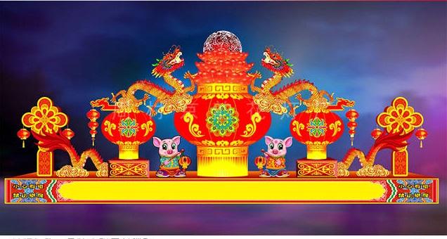 元宵彩灯来样订做「周村京韵花灯供应」