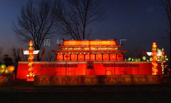東營新年彩燈來圖訂制「周村京韻花燈供應」