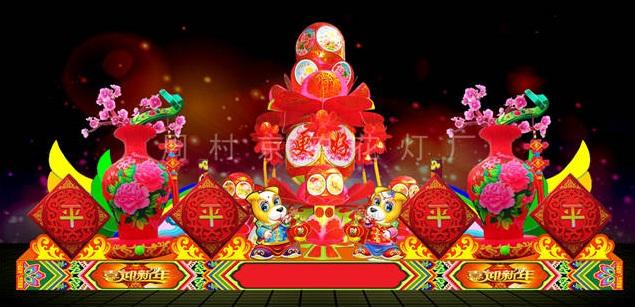 泰安小型花燈來樣訂做「周村京韻花燈供應」
