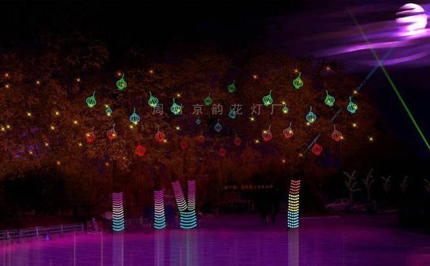 威海光雕花灯来样定做「周村京韵花灯供应」