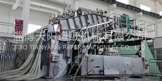 淄博三层上浆斜网纸机机械厂 淄博天阳造纸机械供应
