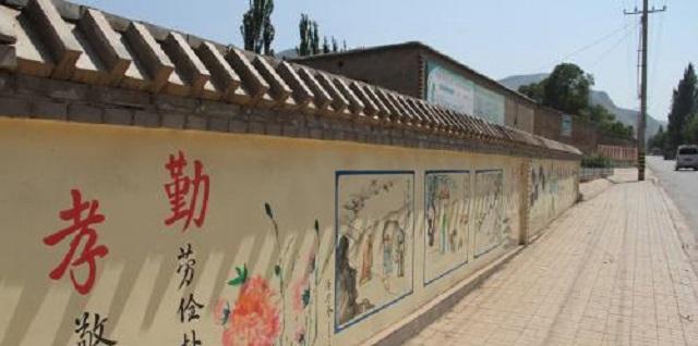 周村全新新农村文化墙装饰,新农村文化墙
