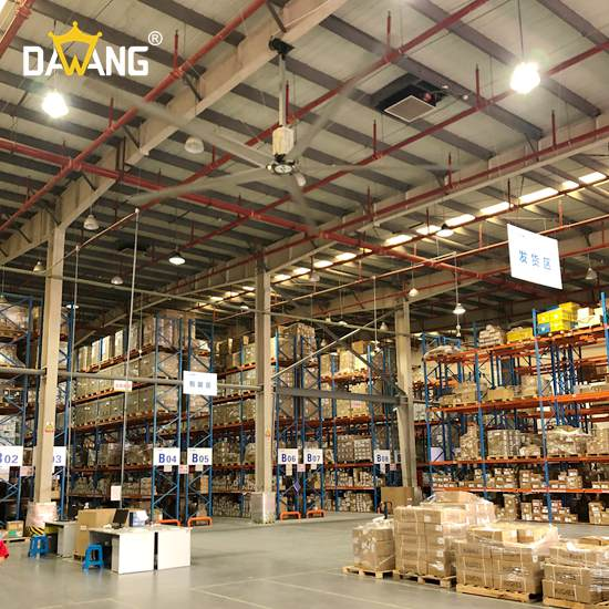 新沂砖瓦厂大型工业风扇除湿防潮 服务至上 苏州大王环境科技供应
