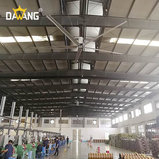 沛县机电厂大型工业风扇通风降温 诚信为本 苏州大王环境科技供应