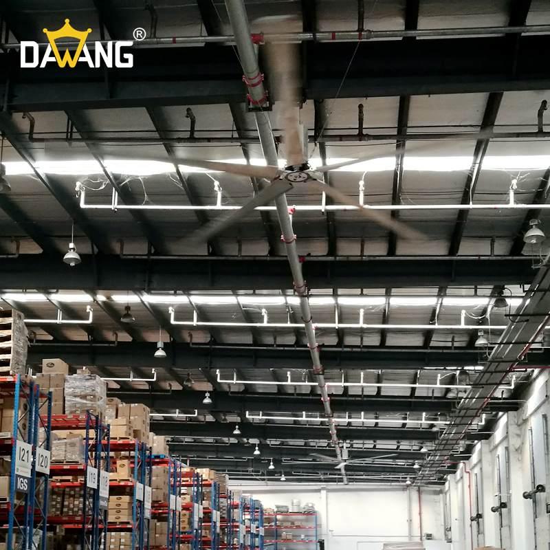 威海成品仓库大型工业风扇上门安装 服务至上 苏州大王环境科技供应