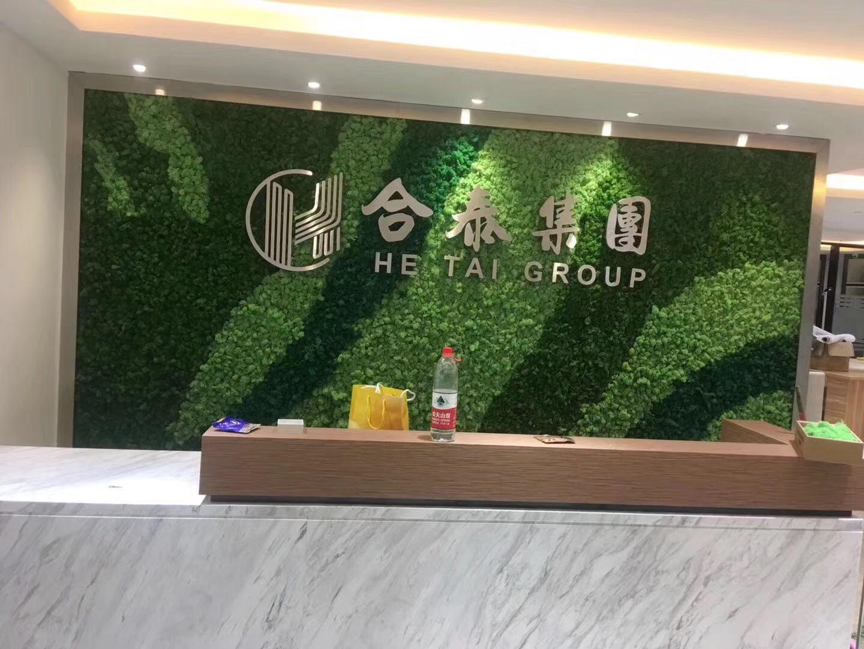 美式绿植墙造型,绿植墙