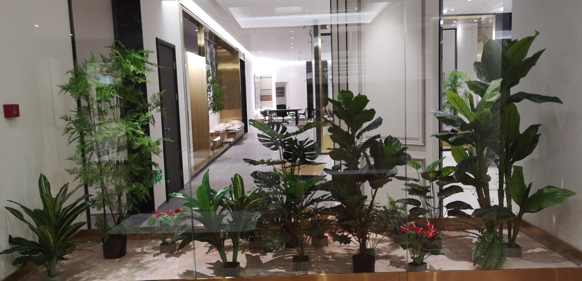 泰州室内橱窗仿真树