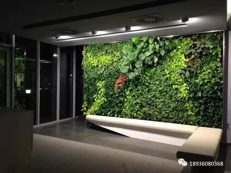 假绿植墙景观制作