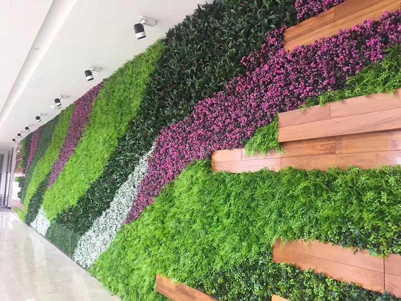玄关放绿植墙高雅制作,绿植墙