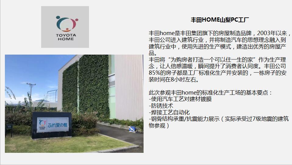 安徽日本装配式建筑地产商务考察