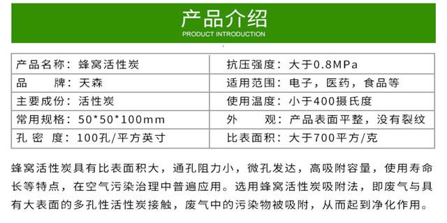 苏州工业废气处理用蜂窝活性炭 欢迎来电 江苏天森炭业科技供应