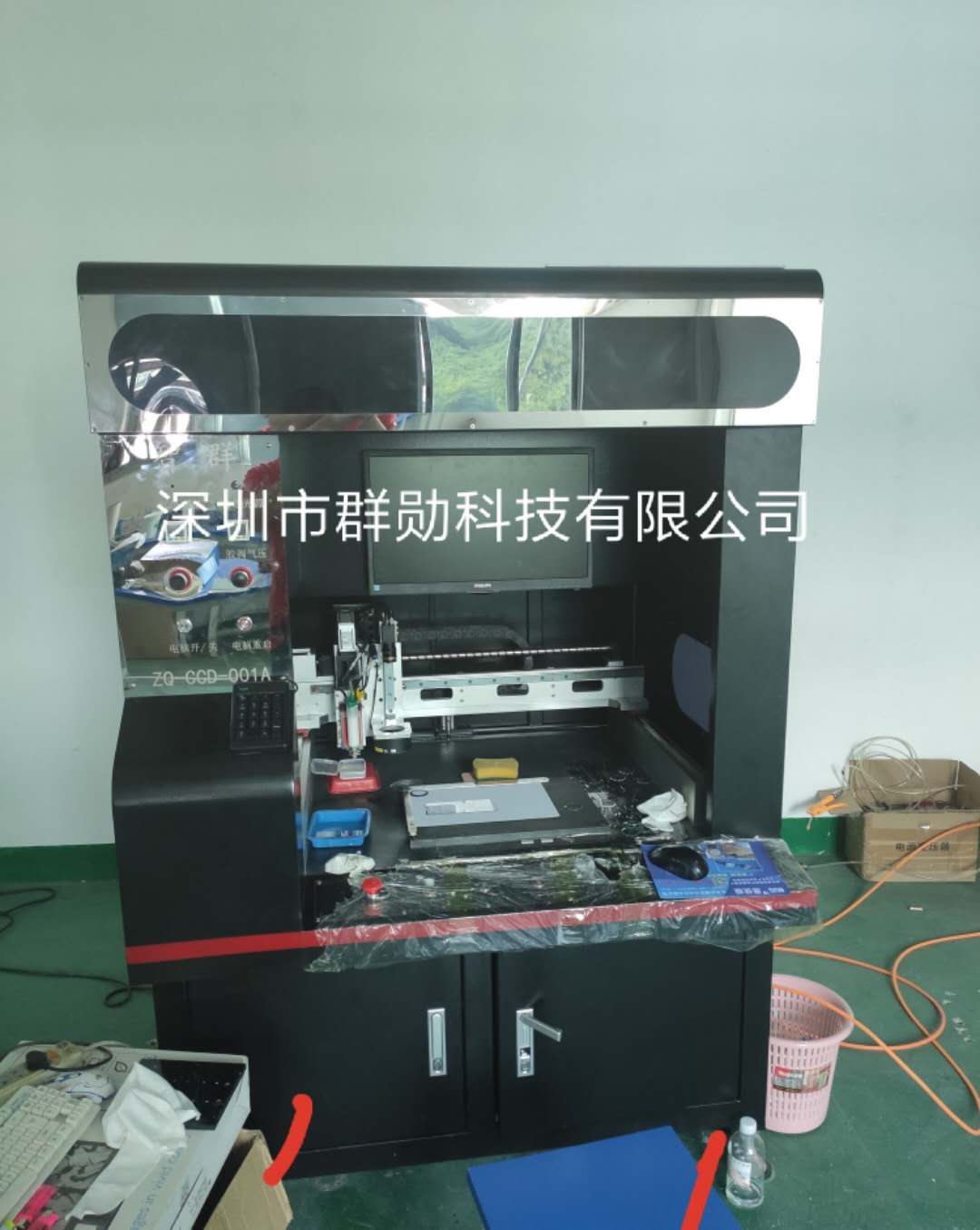 深圳視覺點膠機共同合作 深圳市群勛科技供應