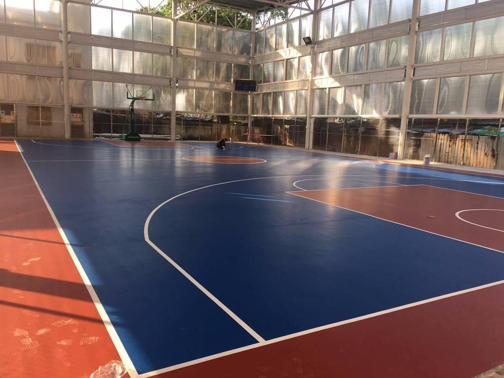 南通专业硅PU篮球场销售厂 客户至上「荣跃供」