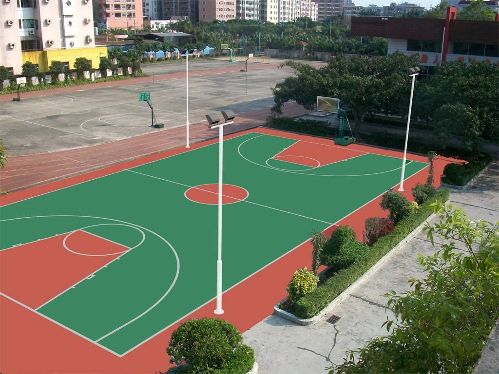 温州篮球场丙烯酸球场报价「上海安怆体育设施工程供应」
