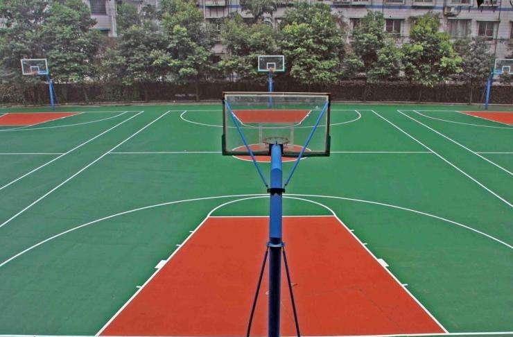 嘉定做塑胶篮球场厂家「上海安怆体育设施工程供应」