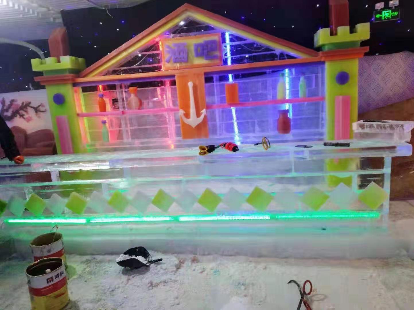重庆宴会雪雕定做,雪雕