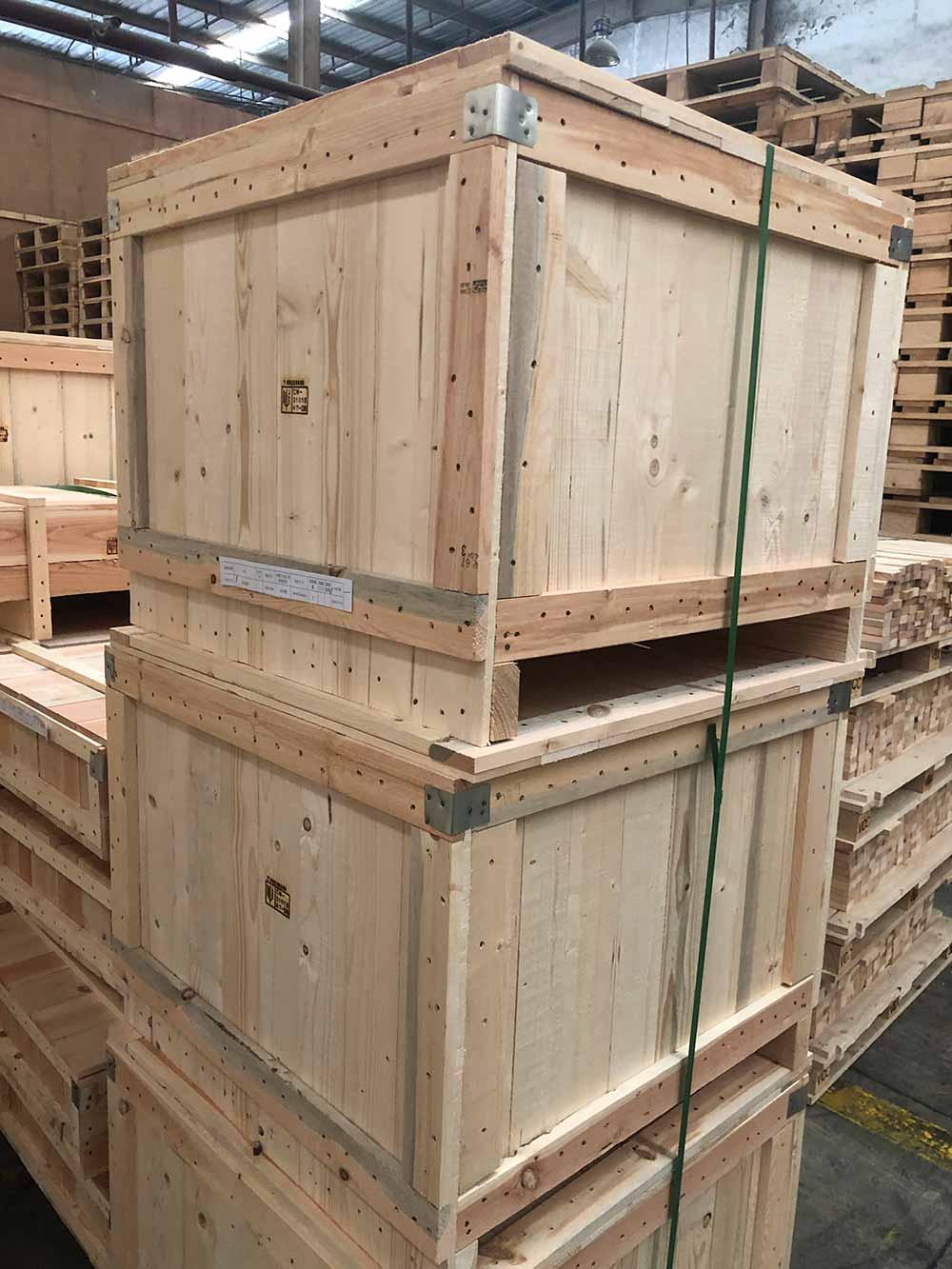 安徽大型包装实木箱包装厂家质量优 诚信互利 上海树人木业供应