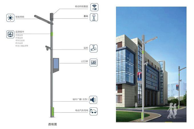 广东智慧路灯杆led屏「上海熙枚电子科技供应」