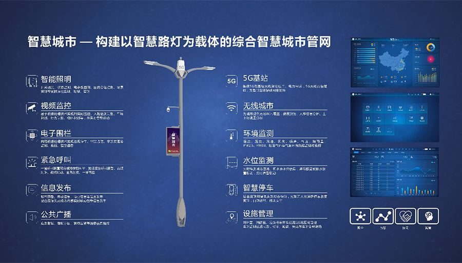小区智慧路灯杆「上海熙枚电子科技供应」