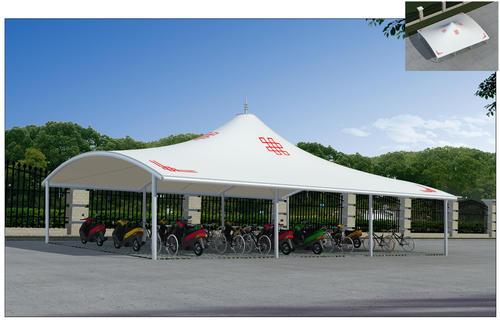 膜结构自行车棚施工工艺,膜结构自行车棚