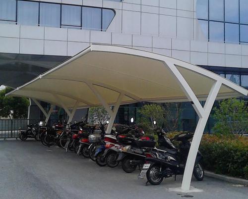 黄冈怎么选购膜结构自行车棚工程,膜结构自行车棚