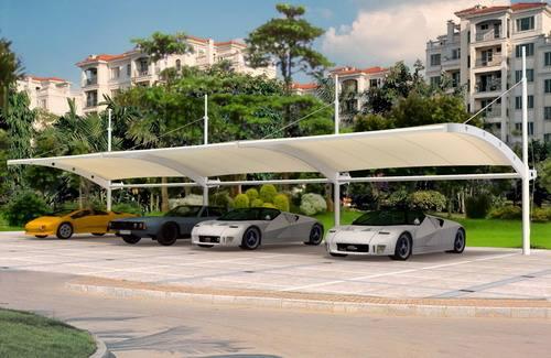 十堰膜结构停车棚报价,膜结构停车棚