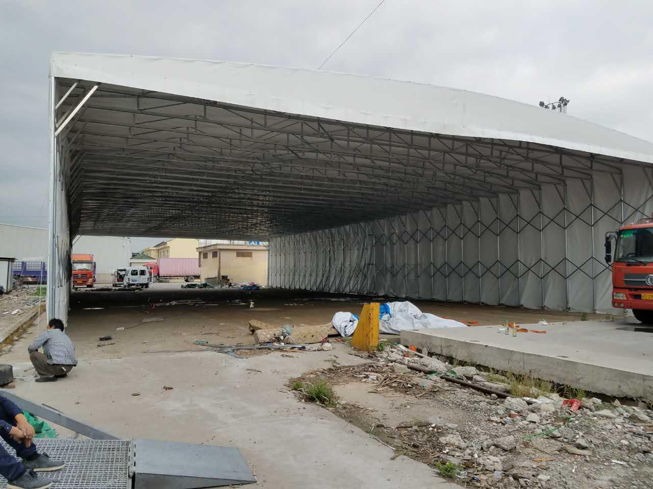 鎮江電動推拉棚客戶至上「蘇州祥賓鋼結構工程供應」