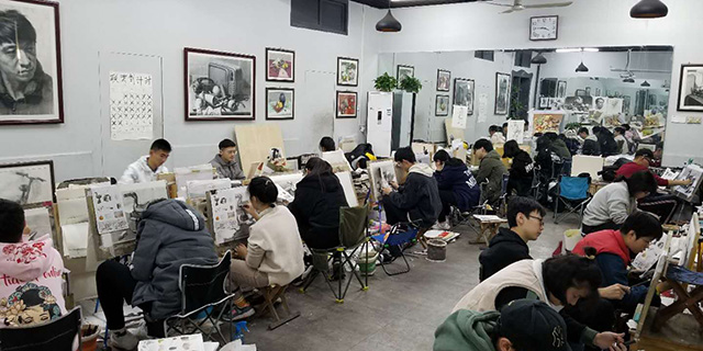 科苑小学附近速写学习「淄博新动力画室服务」