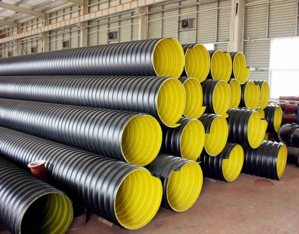 昆明HDPE双壁钢带波纹管规格 铸造辉煌 昆明元森商贸供应