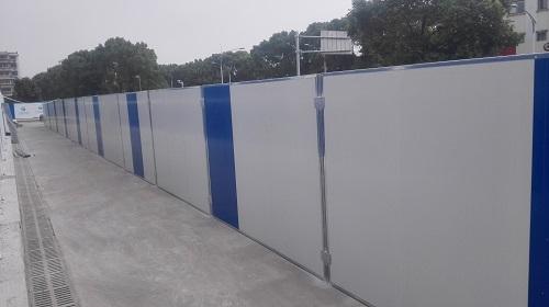宁波优质彩钢板围挡货源充足 贴心服务 宁波挣友工程安装供应