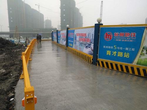 浙江专业彩钢板围挡货源充足 铸造辉煌 宁波挣友工程安装供应