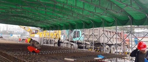 宁波知名钢筋棚制造厂家 铸造辉煌 宁波挣友工程安装供应