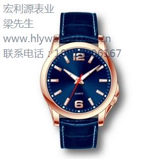深圳供给皮革带手表 深圳男生皮带手表 深圳皮革皮带手表 宏利源供