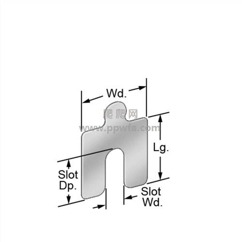 Aloma18-8不锈钢开槽垫片带标签